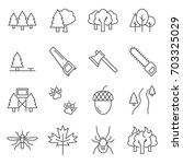 simple set of forest related... | Shutterstock .eps vector #703325029