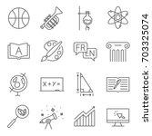 simple set of school subjects... | Shutterstock .eps vector #703325074