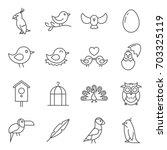 simple set of birds related... | Shutterstock .eps vector #703325119