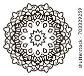 mandala. black and white... | Shutterstock .eps vector #703329259