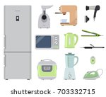 household electrical appliances ... | Shutterstock .eps vector #703332715