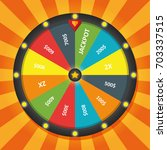 wheel of fortune lottery luck.... | Shutterstock .eps vector #703337515
