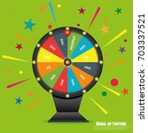 wheel of fortune lottery luck.... | Shutterstock .eps vector #703337521