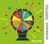 wheel of fortune lottery luck.... | Shutterstock .eps vector #703337521