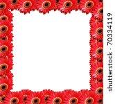 Flower frame - stock photo