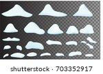 snow big set cartoon. snowdrift ... | Shutterstock .eps vector #703352917