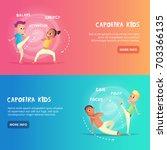 capoeira kids banner for web... | Shutterstock .eps vector #703366135