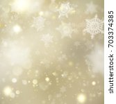 new year and xmas gold dust.... | Shutterstock .eps vector #703374385