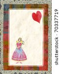 greeting card for valentine's... | Shutterstock . vector #70337719