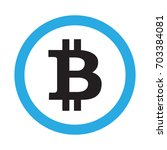 bitcoin icon sign isolated on...