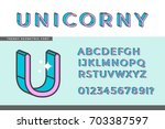 vector alphabet design. thin... | Shutterstock .eps vector #703387597