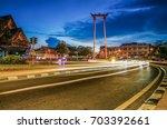 bangkok thailand   august 13... | Shutterstock . vector #703392661