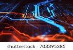 orange and blue technology... | Shutterstock . vector #703395385