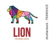 wild animal logo icon symbol... | Shutterstock .eps vector #703401415