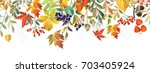 autumn background with flowers | Shutterstock .eps vector #703405924
