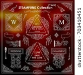 vector steampunk elements.... | Shutterstock .eps vector #703410451