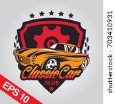classic car logo template | Shutterstock .eps vector #703410931