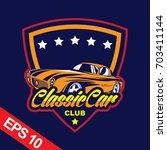 classic car logo template | Shutterstock .eps vector #703411144