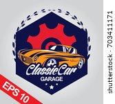classic car logo template | Shutterstock .eps vector #703411171