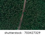 asphalted road surrounded by...   Shutterstock . vector #703427329