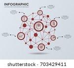 infographics template. business ... | Shutterstock .eps vector #703429411