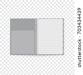 spiral notebook icon. realistic ... | Shutterstock . vector #703434439