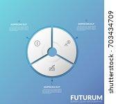 circular diagram divided into 3 ... | Shutterstock .eps vector #703434709