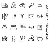 Hotel  Icon Set. Services And...
