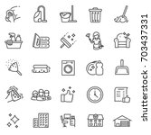 cleaning service  icon set ... | Shutterstock .eps vector #703437331