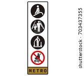 vector. set of icons. escalator ...