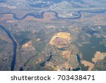 aerial view   western russia at ... | Shutterstock . vector #703438471