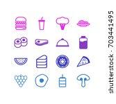 vector illustration of 16... | Shutterstock .eps vector #703441495
