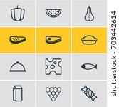 vector illustration of 12 food... | Shutterstock .eps vector #703442614