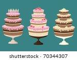 cake for every taste  | Shutterstock .eps vector #70344307