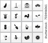 set of 16 editable agriculture...