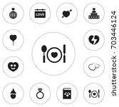set of 12 editable heart icons. ...