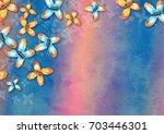a digital watercolor butterfly...   Shutterstock . vector #703446301