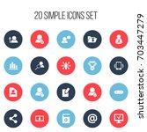 set of 20 editable web icons....