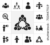 set of 12 editable team icons....