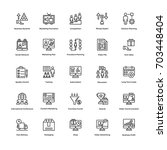 business and financial icons... | Shutterstock .eps vector #703448404