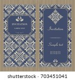 set of antique greeting cards ... | Shutterstock .eps vector #703451041