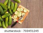 Fresh And Sliced Cucumbers....
