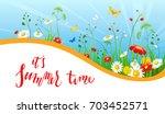summer or spring template for... | Shutterstock .eps vector #703452571