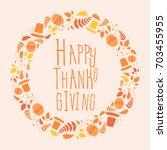 thanksgiving sign | Shutterstock .eps vector #703455955