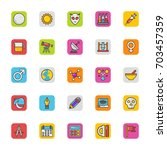 education vector icons 3   Shutterstock .eps vector #703457359
