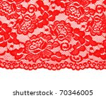 Red Lace With Pattern With Form ...