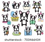 vector of french bulldog or... | Shutterstock .eps vector #703466434