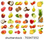 a set of mix fruit | Shutterstock . vector #70347352