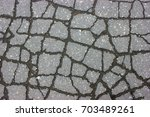 texture of tarmac road with... | Shutterstock . vector #703489261