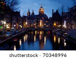Night View Of Amsterdam From...